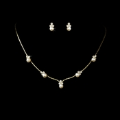 Necklace Earring Set NE 117 Gold Ivory