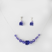 * Purple Illusion Necklace & Earring Set NE 233