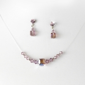 * Necklace Earring Set NE 233 Light Amethyst AB