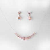 * Pink Illusion Necklace & Earring Set NE 233