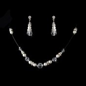 * Silver  Illusion Jewlery Set NE 230