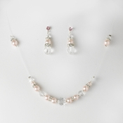 * Pink Pink Illusion Jewlery Set NE 230