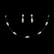 Child's Double Pearl Illusion Jewelry Set NE 204