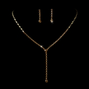 * Necklace Earring Set 313 Gold Brown