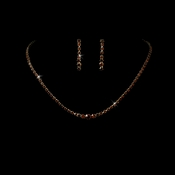* Necklace Earring Set 337 Gold Brown