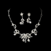 * Stunning Floral Bridal Jewelry Set NE 1461