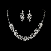 * Couture Bridal Necklace & Earring NE 663 ***4 Left***