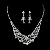 Necklace Earring Set NE 7209 Silver Clear