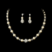 Necklace Earring Set NE 815 ( Ivory or White )