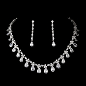 Gorgeous Cubic Zirconia Jewlery Set N 2404 & E 2167