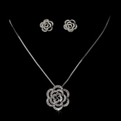 Necklace 2606 Earring 5195 Silver Clear