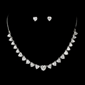 Necklace Earring Set 71749 Silver Clear