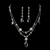 Freshwater Pearl & Crystal Jewelry Set NE 7302