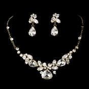Gold Elegant Bridal Jewelry Set NE 8314