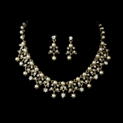 Necklace Earring Set NE 999 Gold