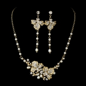 Freshwater Pearl Bridal Necklace Earring Set NE 7803