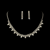 * Necklace Earring NE Set 151 Gold Pearl