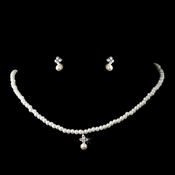 * Children's Necklace Earring Set C 4814 Silver White