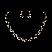 Elegant Gold AB Bridal Jewelry Set NE 388