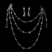 * Stunning Silver Clear Layed Swavorski Crystal Necklace NE 7171