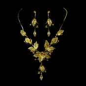 Necklace Earring Set NE 8280 Gold Topaz