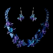 Blue Necklace Earring Set 8548