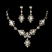 Gold Elegant Bridal Jewelry Set NE 8315