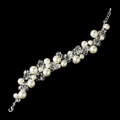 * Pearl and Crystal Destination Wedding Bracelet B 8135