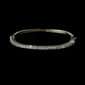 Dazzling Silver Clear Cubic Zirconia Bangle Bracelet 3532