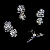 Clip 1143 Crystal Flower (Set of 12)