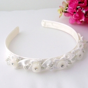 Ivory Pearl Child's Headband HPC 186