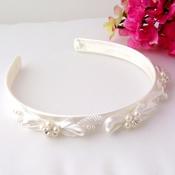 Ivory Pearl Child's Headband HPC 165