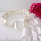 Ivory Pearl Child's Wreath HPC 187