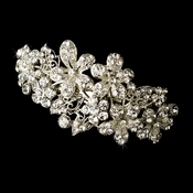 Barrette 5040 Rhodium Silver Clear