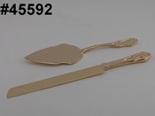 "14.25"" Gold Wedding Anniversary Cake Server Set  45592"