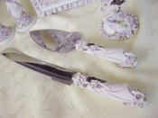 Sweet 15 Cake Server Set 'Girl' Lilac