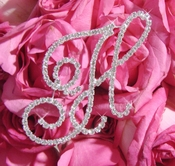 Rhinestone Crystal Letter for Bouquet or Centerpiece