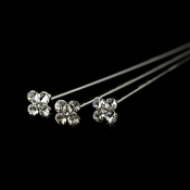 Silver Clear Crystal Bouquet Jewelry BQ 105 (Sold individually)