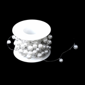 Bouquet Jewelry 273 White Pearl Wire (26 Foot Long)
