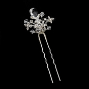 * Unique Swarovski & Cubic Zirconia Accenting Hair Pin 90