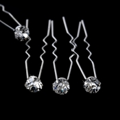 * Crystal Hair Pins KCS 0039 (Set of 12)