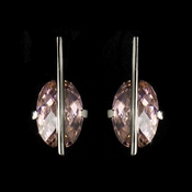 * Fabulous Designer Inspired Silver Earrings w/ Pink Crystals 3500