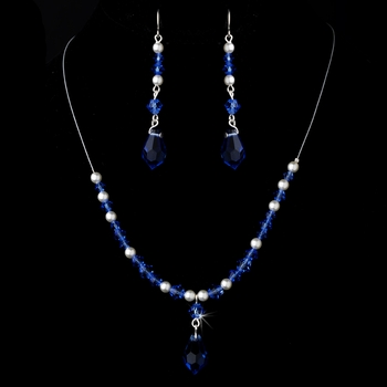 Necklace Earring Set NE 8354 Blue