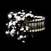 Silver Stretch Ring with Smokey Shadow AB Crystals 473