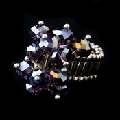 Silver Stretch Ring with Tanzanite Aurora Borealis Crystals 473