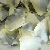 Gray / Blue / Ivory Rose Petals (100 Count) #16