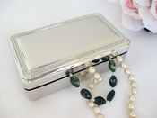 Double Velvet Rectanglular Jewelry Box 27102