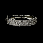 Elegant Bridal Bangle Bracelet B 8102