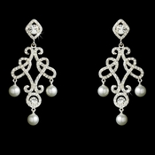 Silver or Antique Silver Chandelier Earring  E 25136