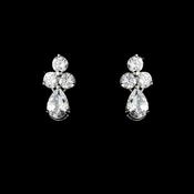 Lovely Silver Clear CZ Earrings 2262